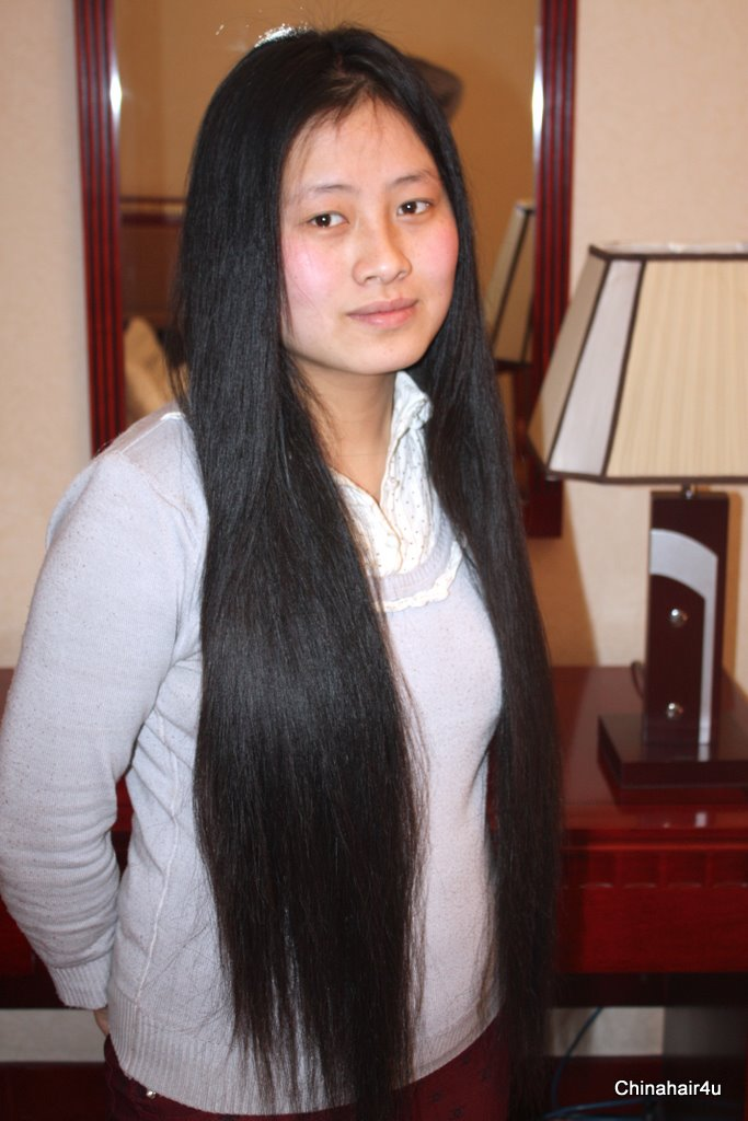 Description she is pretty girl her hair is very very